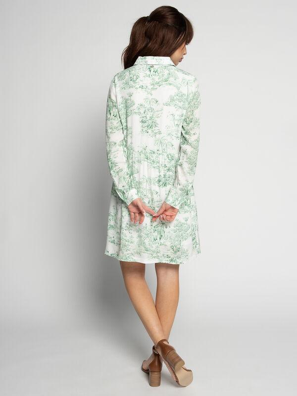 Rich & Royal Kleid mit Spitzenbesatz weiß/grün   Dress-for ...