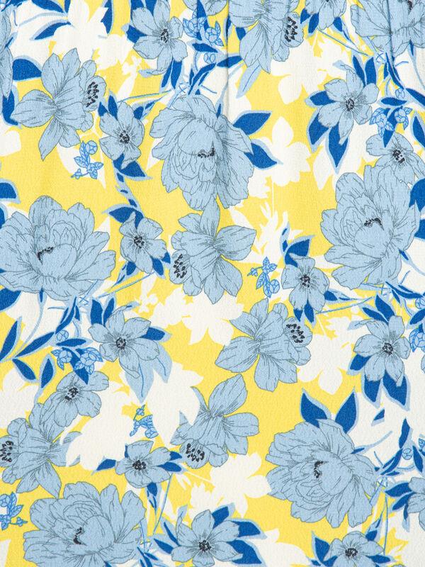 Rich & Royal Hemdblusenkleid gelb/graublau/weiß | Dress ...