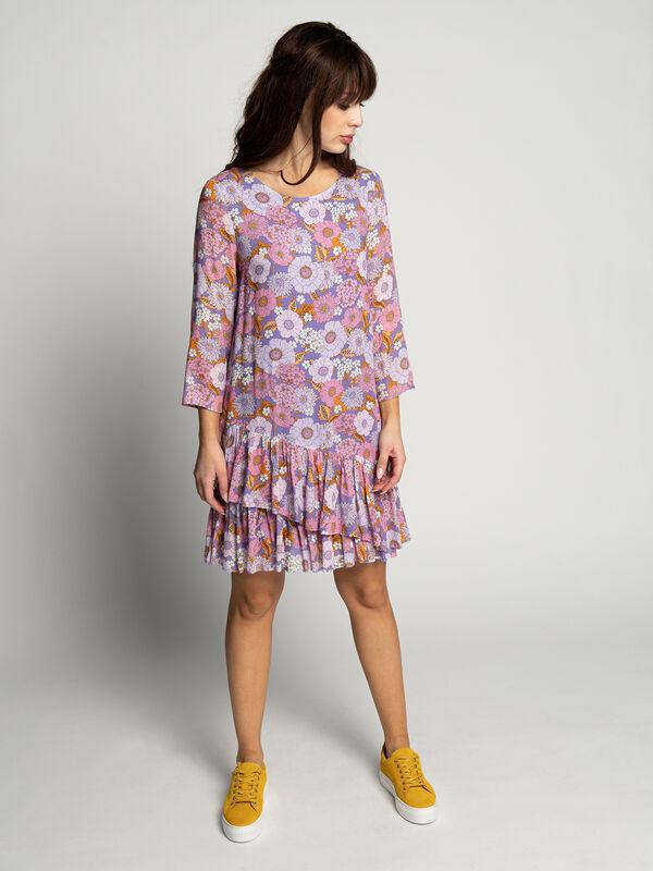 Rich & Royal Kleid mit Rüschen lila/mauve/pink | Dress-for ...
