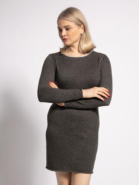 Frauen Strickkleid mit Streifen 540850 in Schwarz Weiß 40//42